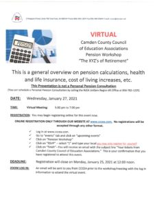 XYZs of Retirement Planning (Virtual) Jan. 27th